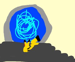 Pikachu entering stargate