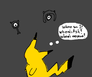 Pikachu enters the void