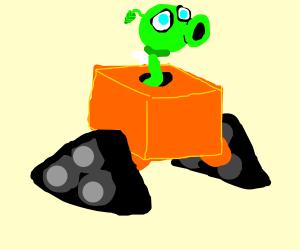 Wall-E & Peashooter fusion