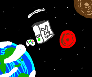 your xbox is in space