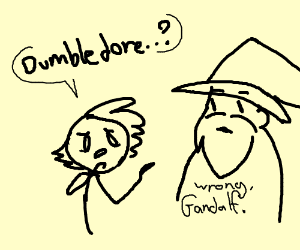 Kid mistakes Gandalf for Dumbledore