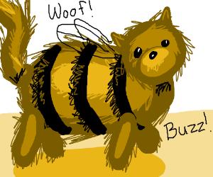 Half-dog-half-bee says both woof and buzz