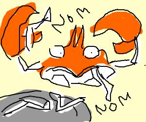 Krabby ( pokemon ) ate Krabby legs!