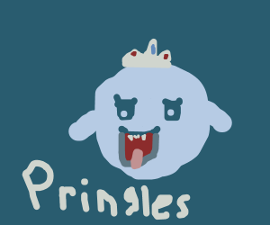 King Boo as the Pringles mascot
