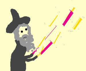 wizard casting a spell