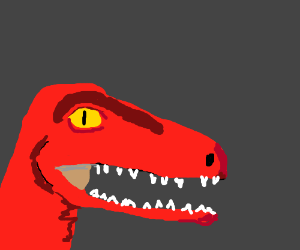 Blood-red Deinonychus