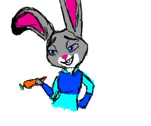 Cute Anthro Bunny Girl