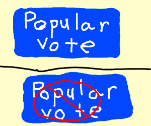 The popular vote is ignored