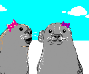 Lady seals gossiping