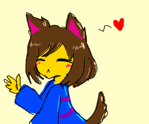 frisk is a furry now