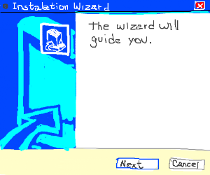 The installation wizard
