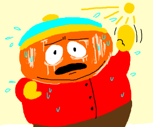 Eric Cartman getting a sun tan.