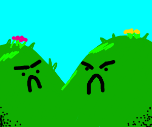 two angry hills