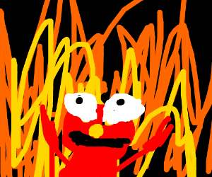 that one elmo meme with the fire drawing by Eduard GS ...