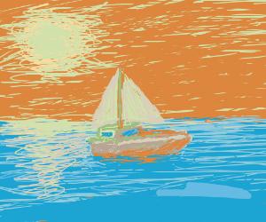 A sunny day at sea