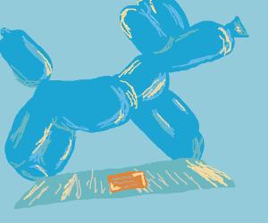 A giant Ballon Dog statue.