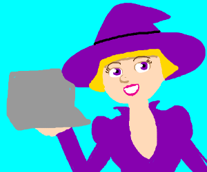 Cute & helpful computer witch