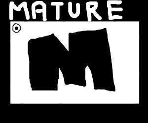 M for mature logo