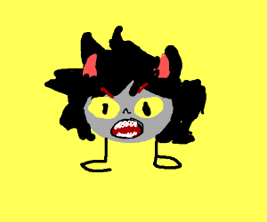 Homestuck face with legs