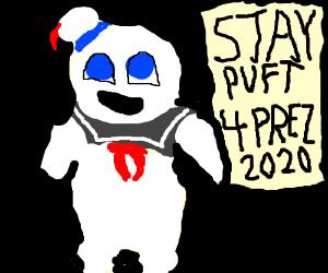 the giant marshmallow man runs for prez 2020