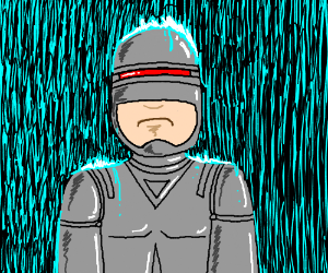 Robocop in the rain