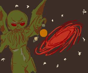 Cthulu-like demon destroys the galaxy