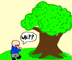men ask a smart tree why