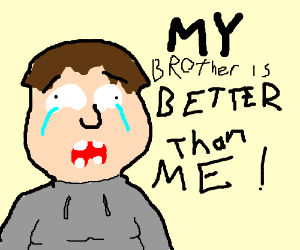 Guy cries because his brother is better