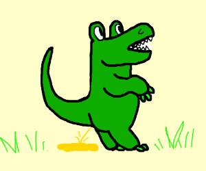 Crocodile Urinating