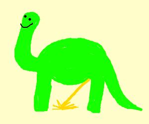 Dinosaur Peeing