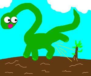 brachiosaurus urinates