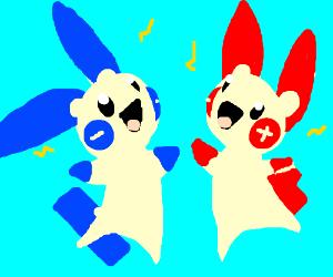 plusle and minun (pokemon)