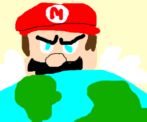 Mario takes over Earth