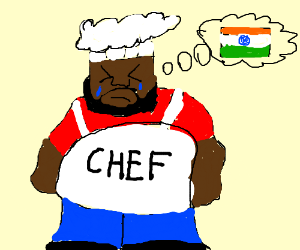 Chef cries while rooting for India.