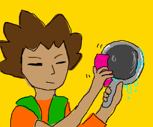 Brock And His Drying Pan Drawception