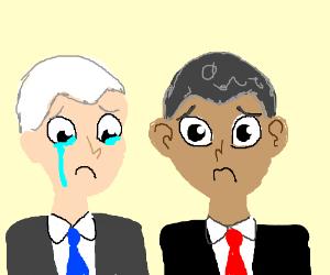 obama and biden are sad