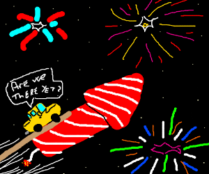 Driving on fireworks night