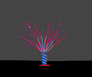 Low budget fireworks