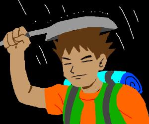 Brock and his drying pan