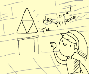 Hey look, the triforce!