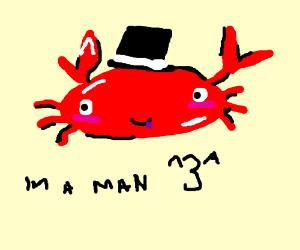 Mr Krabs dressed as Dat Boi