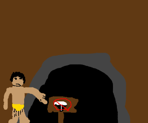No skunks allowed in caveman's home