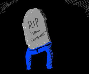 Tombstone wearing pants