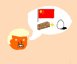 trump talks about how china has developed wall-eggs