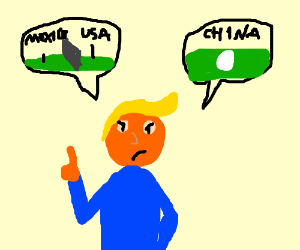 Trump wants to build wall and egg to China