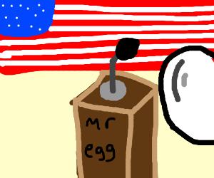 Boiled egg-next USA president