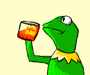 This is fine meme but with Kermit