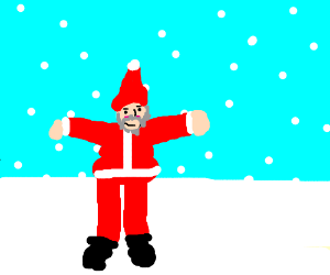Santa in the T-pose