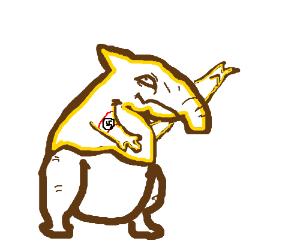 Drowzee with elephant nose