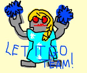 Roblox Cheerleader Elsa Drawing By Pulori Drawception